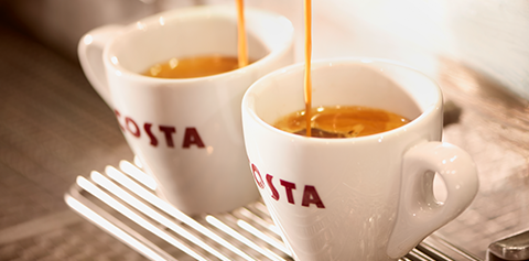 Costa Coffee Being Poured
